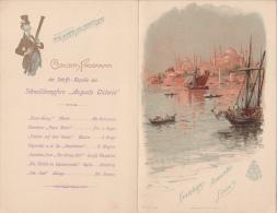 "Turkey - Constantinople - Menu - Hamburg-Amerika Line - Express Steamer ""Auguste Victoria"" - Menus"