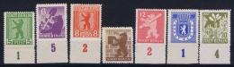 SBZ Berlin: Mi Nr 1 B - 7 B MH/* Falz  1945 Bogenrand - Zone Soviétique