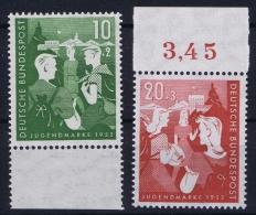 Bund 1952 Mi Nr 153 - 154 MNH/** Postfrisch - Ungebraucht