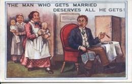 COMICS - THE MAN WHO GETS MARRIES Com94 - Comics