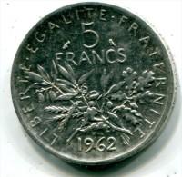 FRANCE - 5 Francs  ARGENT - 1962 - Etat : SUP -  Silver Coin - J. 5 Francs