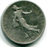 FRANCE - 1 Franc  ARGENT - 1901 - Etat : B  -  Silver Coin - H. 1 Franc