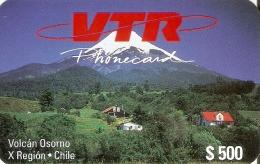 TARJETA DE CHILE DE VTR DEL VOLCAN OSORNO 2ª EMISION TIRADA 5000 (NUEVA-MINT) - Chile