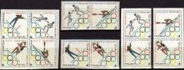 Sommer-Olympia Tokio 1964 Polen 1522/5 ZD+4-Block ** 10€ Fechten Schießen Kanu Basketball Hb Olympic Se-tenant Bf Polska - Summer 1964: Tokyo
