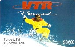 TARJETA DE CHILE DE VTR DEL CENTRO DE ESQUI EL COLORADO 1ª EMISION TIRADA 5000 (NUEVA-MINT) - Chile