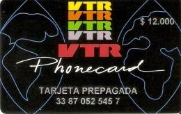 TARJETA DE CHILE DE VTR DE $12000 TIRADA 500 (MUY RARA) - Chile