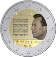 LUXEMBOURG 2 Euro 2013 UNC Avec L´Hymne National - Luxembourg