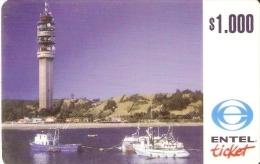 TARJETA DE CHILE DE ENTEL DE UNA ANTENA DE TELECOMUNICACIONES (NUEVA-MINT) - Chile