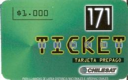 TARJETA DE CHILE DE 171 TICKET DE CHILESAT - Chile