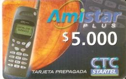TARJETA DE CHILE DE CTC STARTEL DE AMISTAR PLUS MOBIL - Chile