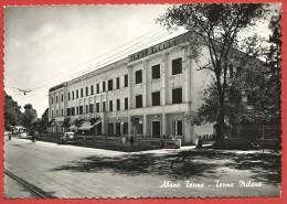 CARTOLINA VG ITALIA - ABANO TERME (PD) - Hotel Terme Milano - 10 X 15 - ANNULLO 1953 - Padova (Padua)