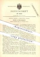 Original Patent - Arnold Sandoz In Neuchâtel , Schweiz , 1880 , Operations- Und Untersuchungstisch , OP - Tisch !!! - Vieux Papiers