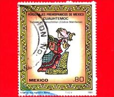 MESSICO - Usato - 1980 - Personalità Pre Ispaniche Del Messico - Cuauhtémoc - Codex Matritense - 80 - México