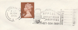 1991 COVER Slogan DUDLEY ROAD HOSPITAL CHILDRENS UNIT  APPEAL Health Medicine Stamps Gb Birmingham - Medicine
