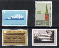 Australia 1973 Architecture Set Of 4 MNH - 1966-79 Elizabeth II
