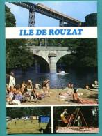 03 - ILE DE ROUZAT  La Plage, Le Camping, Jeux D Enfant  -   écrite 1982 - 2 Scans - Cpm - - France