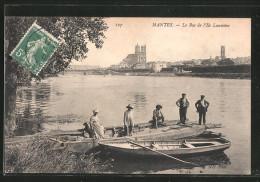 CPA Mantes, La Bac De L'Ile Laumône - France