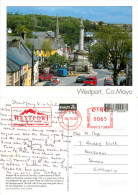 Westport, Mayo, Ireland postcard posted 2005 meter