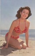 PIN UP BEACH GIRL CHICA DE CALENDARIO NO EDITADA NOT ISSUES VOYAGÉE VIAJADA 1955 TBE GECKO - Mode