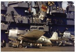 (360) Aircraft Carrier USS Yortown And Warplane - Warships