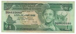 Ethiopia , 1 Birr,  P-41a. VF+ - Ethiopia
