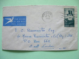 South Africa 1956 Cover To East London - Paul Kruger - Antelope Air Mail Logo - South Africa (...-1961)