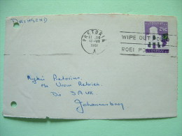 South Africa 1961 Front Of Cover To Johannesburg - Grapes - Building - Medecine Polio Slogan - South Africa (...-1961)