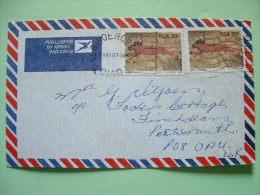 South Africa 1987 Cover To England - Lions Petroglyphs (Scott 695 2x = 1.80 $) - Brieven En Documenten