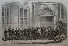 Souverains Des états De La Confédération Germanique - Ludwig II - Wilhelm I - Dr. Duckwitz - Page Original Double 1864 - Documents Historiques