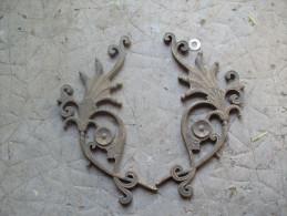 2 PIECES DE BRONZE POUR DECORATION 20 Cm - Bronzes