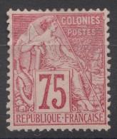 Colonies General Issues 1881 Yvert#58 MNG