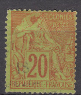 Colonies General Issues 1881 Yvert#52 Used