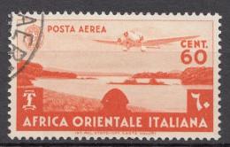 Italy Colonies East Africa 1938 Airmail Mi#23 Used - Africa Oriental Italiana