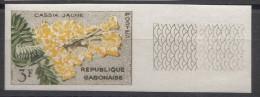 Flowers Gabon 1961, Imperforated Mint Never Hinged - Gabon (1960-...)