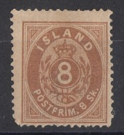 Iceland Island Ijsland 1873 Mi#4 Original Gum - Neufs