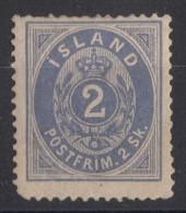 Iceland Island Ijsland 1873 Mi#1 Original Gum - Neufs