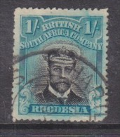 Southern Rhodesia, George V, Admiral, 1913 1/= Black & Greenis-blue Blue, Used - Southern Rhodesia (...-1964)