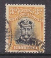 Southern Rhodesia, George V, Admiral, 1913 3d Black & Deep Yellow, P14, Die II, Used - Southern Rhodesia (...-1964)