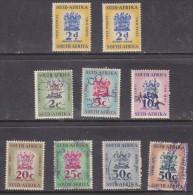 South Africa: 1961 2c, 5c,10c, 20c, 25c, 30c, 50c Revenue Stamps Used - Used Stamps