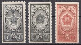 Russia SSSR 1945 Mi#948-950 Mint Never Hinged