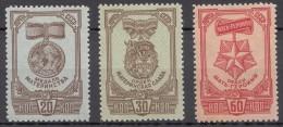 Russia SSSR 1945 Mi#968-970 A Mint Hinged