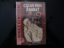 """Collection """"police Et Mystère """" N°19 """"celui Qui Savait"""" W.Cobb - Ferenczi"""