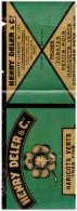 ETIQUETTE En Chromolithographie Haricots Verts HENRY DELER ( Ste Livrade, Lot Et Garonne) (PPP295) - Old Paper