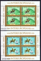 RO+ Rumänien 1978 Mi Bl. 151-52 - 3514-15 Mnh INTEREUROPA - 1948-.... Republics
