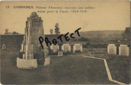Ganshoren : Guerre 1914 - 1918 : Morts Ppour Le Patrie : Soldats  : Begraafplaats -  Cimetière - Ganshoren