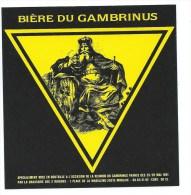 étiquette Bière Du Gambrinus édition Spéciale 1991 - Bière