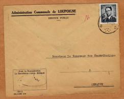 Enveloppe Brief Cover Administration Communale De Loupoigne - Lettres & Documents
