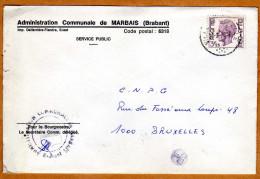 Enveloppe Brief Cover Administration Communale De Marbais - Belgio