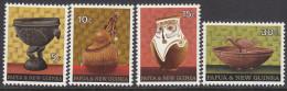 PAPUA NEW GUINEA, 1970 ARTIFACTS 4 MNH - Papua New Guinea