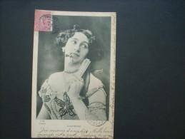 Artiste Daguerre Avec éventail -  Cliché Manuel Jm éd. Dos Simple Circulée  1904 L212A - Artistes